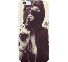 Unholy Girl In Mask  iPhone Case/Skin