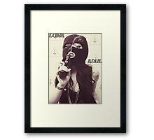 Unholy Girl In Mask  Framed Print