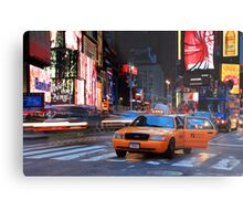 Taxi Please! Metal Print