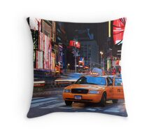 Taxi Please! Throw Pillow
