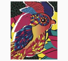 Feathered Flowers Colorful print One Piece - Short Sleeve