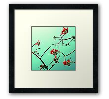 A touch of red. Framed Print