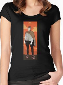 The man with no name but with some skates (with background) Women's Fitted Scoop T-Shirt
