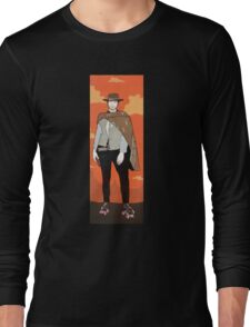 The man with no name but with some skates (with background) Long Sleeve T-Shirt