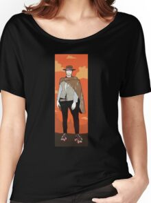The man with no name but with some skates (with background) Women's Relaxed Fit T-Shirt