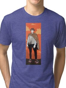 The man with no name but with some skates (with background) Tri-blend T-Shirt