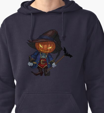 Jack-o-lantern in a hat Pullover Hoodie