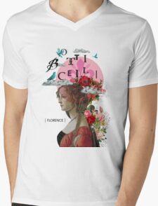 Collage italian Florence spirit renaissance Mens V-Neck T-Shirt