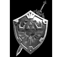 Zelda Sword and Shield BnW Photographic Print