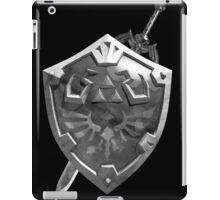 Zelda Sword and Shield BnW iPad Case/Skin
