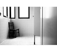 Bathroom Chair 2 Photographic Print