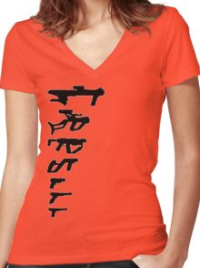 GunPlay Shadow Shot Women's Fitted V-Neck T-Shirt