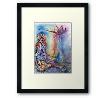 LADY OF LAKE  / Magic and Mystery Framed Print