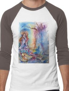 LADY OF LAKE  / Magic and Mystery Men's Baseball ¾ T-Shirt