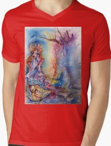 LADY OF LAKE  / Magic and Mystery Mens V-Neck T-Shirt