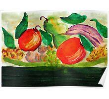Fruit Plate, watercolor Poster