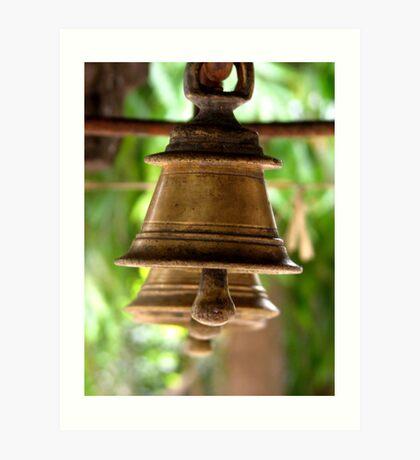 Hindu Temple Bells Art Print