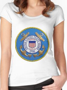 United States Coast Guard Seal Women's Fitted Scoop T-Shirt