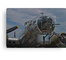 Front gunner position on the B-17G SuperFortress Canvas Print