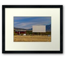 Classic American Retro Drive-In Theater Framed Print