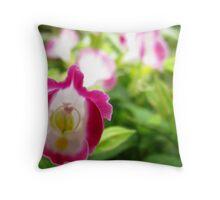Pink Wishbone flower Throw Pillow