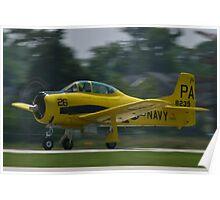 138239, N726A T-28B Trojan taking off Poster