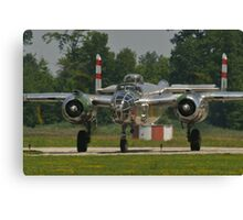 """B-25 Mitchell """"Panchito"""" taxis Canvas Print"""