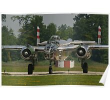 "B-25 Mitchell ""Panchito"" taxis Poster"
