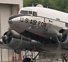 """C-47B Skytrain """"Yankee Doodle Dandee"""" taxis by Henry Plumley"""