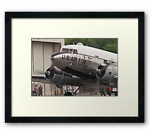 """C-47B Skytrain """"Yankee Doodle Dandee"""" taxis Framed Print"""