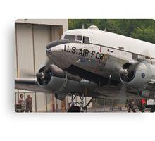 "C-47B Skytrain ""Yankee Doodle Dandee"" taxis Canvas Print"