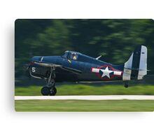F4F Wildcat landing Canvas Print