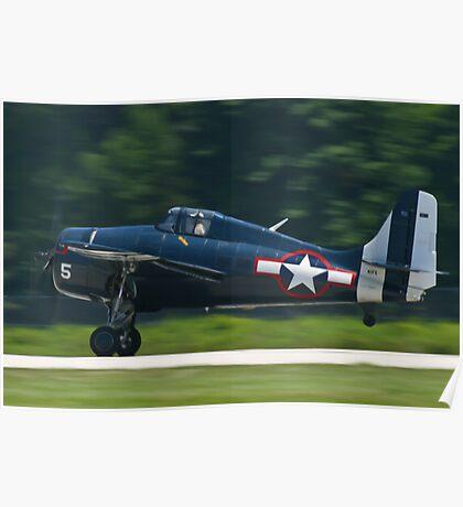 F4F Wildcat landing Poster