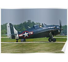 F4F Wildcat taxis Poster