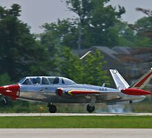 N434F 1963 Potez, Fouga Magister, landing by Henry Plumley