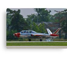 N434F 1963 Potez, Fouga Magister, landing Canvas Print