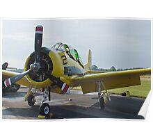 N726A T-28B Trojan Nose Shot Poster