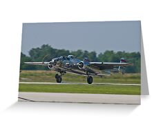 44-30734 1944 North American B-25N Mitchell lands Greeting Card
