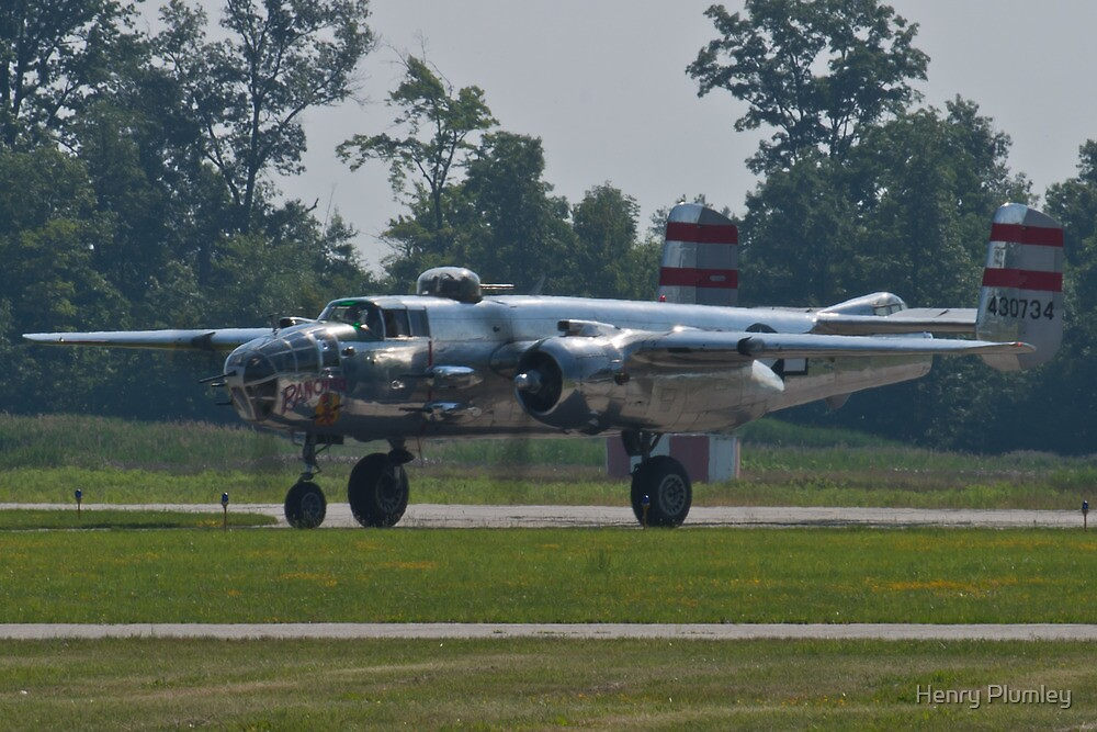 44-30734 1944 North American B-25N Mitchell taxis  by Henry Plumley