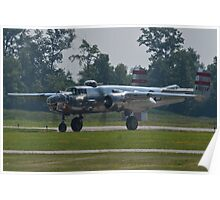 44-30734 1944 North American B-25N Mitchell taxis  Poster