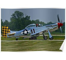 NL1451D, North American P-51D Mustang taxis Poster