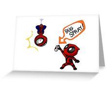 Spidypool Greeting Card