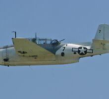 NL9584Z TBM-3 Avenger flyby by Henry Plumley