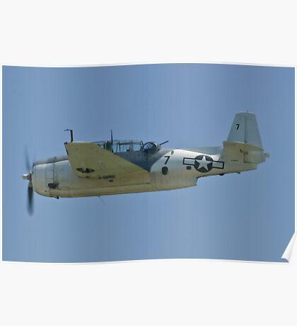NL9584Z TBM-3 Avenger flyby Poster