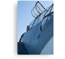 Open canopy on NL9584Z TBM-3 Avenger Canvas Print