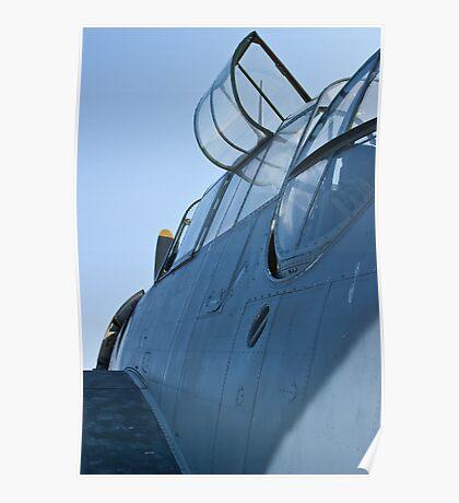 Open canopy on NL9584Z TBM-3 Avenger Poster