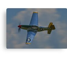 P-51 Mustang canopy pass Canvas Print