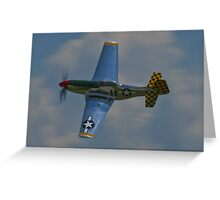 P-51 Mustang canopy pass Greeting Card