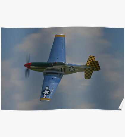 P-51 Mustang canopy pass Poster