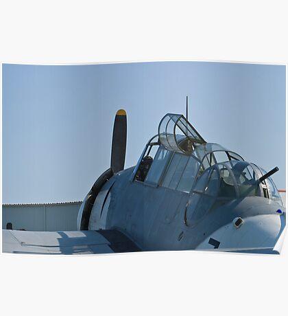 Side shot of NL9584Z TBM-3 Avenger Poster